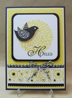 A beautiful card just because!  Find lots of yellow and black patterned cardstocks at www.cardstockshop.com to make yours!