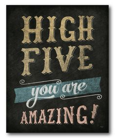 Look what I found on #zulily! 'High Five' Wrapped Canvas #zulilyfinds