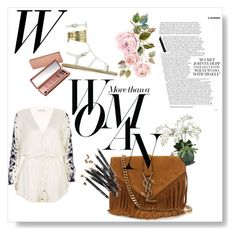 """""""#3"""" by alinnas ❤ liked on Polyvore featuring Pampelone, Yves Saint Laurent, Bobbi Brown Cosmetics, Allstate Floral, Urban Decay, Ancient Greek Sandals and Sarah Jessica Parker"""