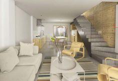 Interiorismo Salón Divider, Room, Furniture, Home Decor, House Decorations, Lounges, Interiors, Blue Prints, Rum