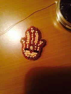 Hamsa hand beading embroidery
