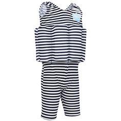 Splash About Short John Float Suit Navy White Stripe 1-2 Years