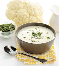 SOUPE DE CHOU-FLEUR Voici une recette de potage traditionnel qu'il fait toujours bon de retrouver sur la table. Pour varier, ajoutez 1 c. à s. de cari moulu à la fin de la cuisson.