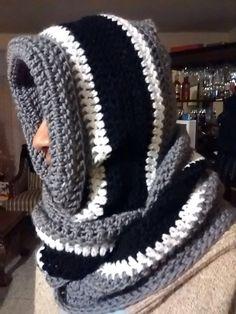 Capucha con bufanda crochet