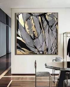 Large Abstract Painting On Canvas Gray Painting Golden Leaf Painting Abstract Oil Painting Original Large Abstract Painting On Canvas Gray Painting Golden Leaf Painting Abstract Oil Painting Original Abstract Canvas Wall Art Office Decor USD Abstract Canvas Wall Art, Geometric Painting, Oil Painting Abstract, Best Abstract Paintings, Acrylic Paintings, Canvas Canvas, Modern Art Paintings, Portrait Paintings, Design