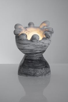 """""""James Pearl Jones"""" marble table lamp by the Haas Brothers"""