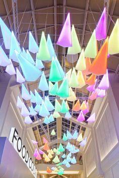 Flock of Birds - Installazione luminosa di Paul Nulty http://goo.gl/Ti6k3F @paulnulty #light #led