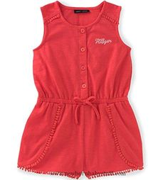Baby Girl Clothes Tommy Hilfiger Baby Girls' Romper-Jersey, Nectarine, 24M