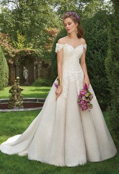 07e1d05ffc79 Lace Applique Off the Shoulder Dress from Camille La Vie Dream Wedding  Dresses