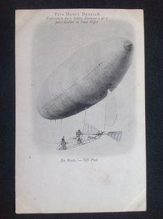 Early Aviation Santos Dumont Brazil Prix Henry Deutsch ND Phot 5 | eBay