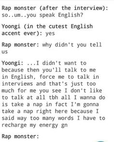 Secretly fluent yoongi lol