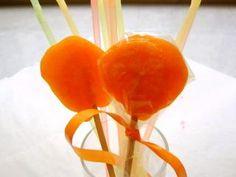Orangen-Lollis (Orangen-Lutscher)