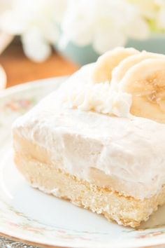 ***Banana Cream Tart Bars ~ are the perfect dessert for something light and simple plus lovely for parties.