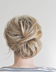 Low Chignon Hair Tutorial | The Small Things Blog