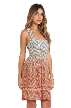 Cross Back Dress in Coral