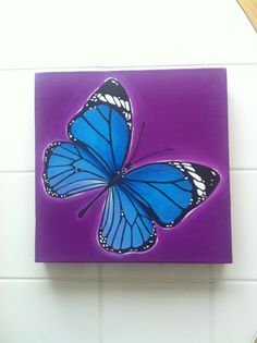 Butterfly by Melissa D'Abreu - Acrylic paint on canvas