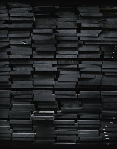 black painted wood / color inspiration / black and white / monochromatic / texture / pattern / nature / art / All Black Everything, Grafik Design, Black Wood, Black Brick, Grey Wood, Shades Of Black, Black Is Beautiful, Beautiful Beach, Textures Patterns