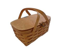 picnic basket.. the one I have is similar to this, but is taller.  We can also use it as a drink tray, or as a table for decor.