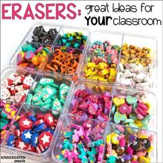 for using mini erasers in your classroom Ideas on how to use those super cute mini erasers from Target in your classroom!Ideas on how to use those super cute mini erasers from Target in your classroom! Preschool Classroom, Kindergarten Math, Classroom Activities, Preschool Activities, Early Finishers Kindergarten, Kindergarten Classroom Organization, Spring Activities, Alphabet Activities, Holiday Activities