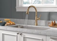 Now that we've talked about our favorite bathroom fixtures when it comes to all things plumbing, it's time to share our favorite kitchen fixtures including sink Small Kitchen Redo, Kitchen And Bath, Black Kitchens, Cool Kitchens, Colorful Kitchens, Kitchen Fixtures, Kitchen Cabinetry, Kitchen Colors, Kitchen Design