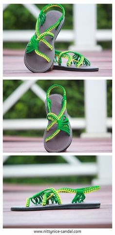 Playful braided paracord sandals