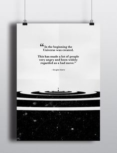 Douglas Adams Quote Poster The Hitchhiker's Guide by PrintedRoots
