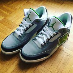 7c1167a8069bdd Un des meilleurs modeles Nike Air Jordan III Chlorophyll  nikeairjordan3   airjordan  airjordaniiiretro