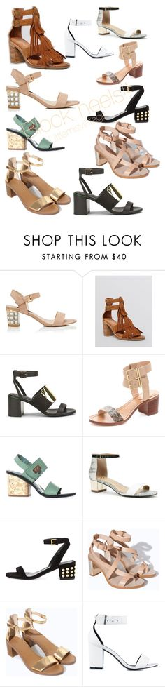 Block heels are back & on fiyah!! Littlemisvintage by littlemisvintage on Polyvore featuring Zara, Jeffrey Campbell, Ann Taylor, See by Chloé, Forever New, Balenciaga, Pour La Victoire, Alexander McQueen, Nly Shoes and vintage