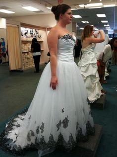 black and white wedding dress WD049 | Wedding Ideas | Pinterest ...