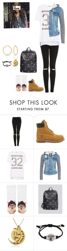"""""""Kc Undercover Inspired!"""" by editzz ❤ liked on Polyvore featuring Topshop, Timberland, Pull&Bear, NLY Trend, Monki and Bling Jewelry"""