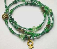 Malachite Venus Goddess Waist Beads by WrapandSoul on Etsy, $20.00