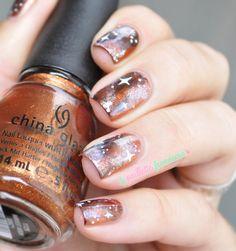 nailstorming autumn galaxy nails