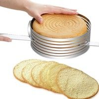 Cake Layer Slicer Features: - Convenient adjustable ring, easy to use - Perfect mold for DIY cook