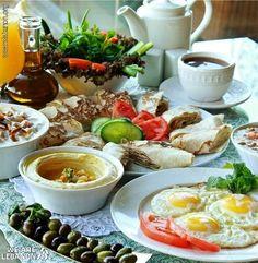 Typical Lebanese Breakfast