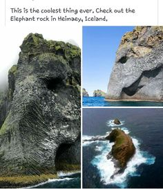 In Heimaey Iceland The post Elephant Rock In Heimaey Iceland appeared first on Gag Bee.The post Elephant Rock In Heimaey Iceland appeared first on Gag Bee. Vacation Places, Dream Vacations, Places To Travel, Oh The Places You'll Go, Cool Places To Visit, Dame Nature, To Infinity And Beyond, Adventure Is Out There, Belle Photo