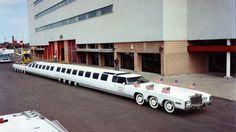 From the tallest limo to the longest – it's 100ft long (30.5m), has 26 wheels, features a swimming pool with a diving board, a king-size water bed and a helipad. It was built by American Jay Ohrberg for use in Hollywood movies.