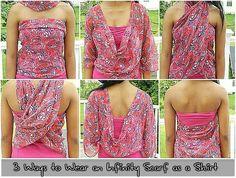 3 Manieren om een Infinity Sjaal dragen als een shirt
