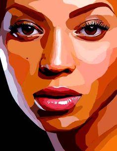 ah this is awesome cool art, pop art и vector portra Portraits Illustrés, L'art Du Portrait, Vector Portrait, Digital Portrait, Illustration Pop Art, Portrait Illustration, Art Illustrations, Fashion Illustrations, Photoshop Effekte