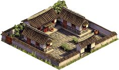 Modest Siheyuan holds up to 5 people China Architecture, Architecture Design, Chinese Courtyard, Village House Design, Internal Courtyard, Fantasy City, Castle House, Courtyard House, Japanese House