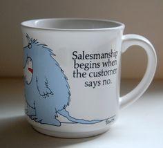 Sandra Boynton Coffee Mug  Salesmanship Begins by TheRecycleista, $12.00 #monster #sandraboynton