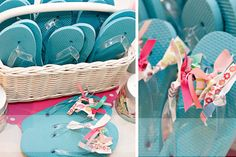 Party Favor Ideas | flops make a great favor for any spa party, pool party or beach party ...