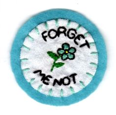 Forget Me Not Patch by mittenfingerz on Etsy