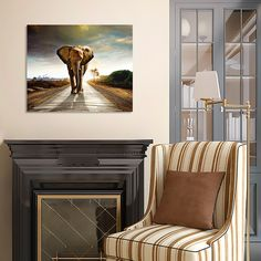 "Картина 73 х 60 см ""Слон в пустыне"" (металл) 1690 руб. Ссылка для заказа: http://decoretto.ru/art/metall/kartina-73-h-60-sm-slon-v-pustyine-metall/"