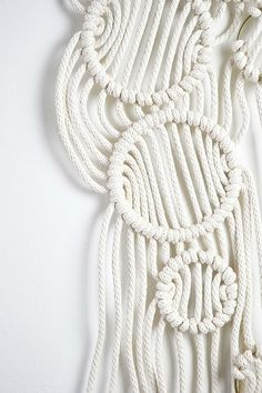 Macrame wall hanging decor idea by Amy Zwikel Studio. Perfect unique macrame piece to add texture and warmth.