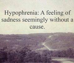 Definition of Hypophrenia