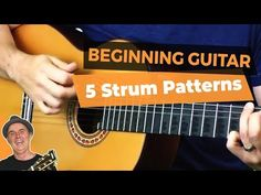 In this guitar lesson I teach the 5 of the best strum patterns to learn for beginning guitar Acoustic Guitar Notes, Guitar Chords, Music Guitar, Playing Guitar, Learning Guitar, Acoustic Guitars, Ukulele, Teaching Music, Guitar Scales