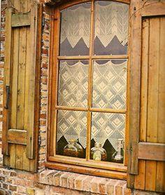 1970s Vintage CROCHET PATTERN Lace Curtains & valance (P)