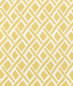 Portfolio Treads Sunflower Fabric - would look great in a grey, white and yellow room!