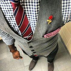 File under: Ties, Pocket Squares, Gingham, Vest, Broach, Accessories, Prints