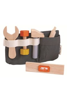 The perfect toy for the junior handyman about the house. This adorable toy tool belt from Plan Toys is means they will always be prepared to help Toddler Gifts, Toddler Toys, Kids Tool Belt, Plan Toys, Big Box Store, Diy Coffee Table, How To Make Shorts, Old Wood, Cotton Bag